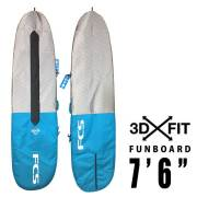 FCS サーフボードケース 3DX FIT DAY Funboard Cover 7'6/ファンボード用 ハードケース サーフィン