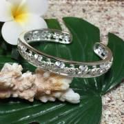 ハワイアンジュエリー シルバー バングル ホヌ×プルメリア /ブレスレット hawaiian jewelry アクセサリー