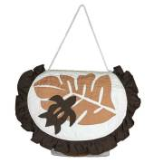 ハワイアンキルト トイレットペーパーホルダー モンステラ×ホヌ ブラウン/ Hawaiian Quilt インテリア雑貨 ハワイアン雑貨