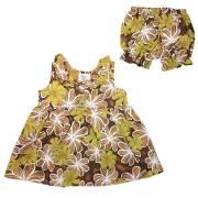 ハワイアン ベビー パンツ付きワンピース ブラウン 18ヶ月/幼児用 子供服 キッズ