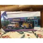 絵画 ハワイ キャンパスパネル絵 Surf Shop 栗山義勝/Yoshikatsu Kuriyama ハワイアン雑貨