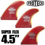 "PROTECK FIN プロテックフィン SUPER  FLEX 4.5"" FUTURE  3フィン/ショートボード用 ソフトフィン サーフィン"