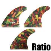 【送料無料】ratio fin レイシオフィン フラップモータースピードフィン  FUTURE  3FIN/ショートボードフィン サーフィン