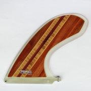 ロングボードフィン レインボーフィン Rainbow fin classic wood EL GATO 9.5 DA CAT