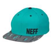 neffキャップ DAILY PATTERN CAP TEAL/DARK GREY/ネフ 男性用帽子 サーフィン