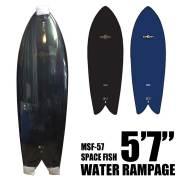 WATER RAMPAGE ウォーターランページ サーフボード MSF-57 SPACE FISH 5'7/ショートボード