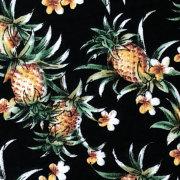 ハワイアン生地 パイナップル ブラック