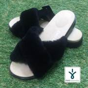EMU Mareeba エミュー マリーバ BLACK/レディースサンダル ファーサンダル