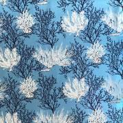 ハワイアン生地 ブルーコーラル サンゴ LW-16-527-Blue