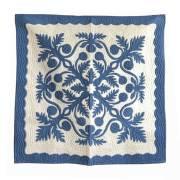 Hawaiian quilt ハワイアンキルトタペストリー パンの木柄 107×107cm/インテリア 壁掛け マット