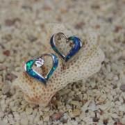 ハワイアンジュエリー シルバーピアス ハート ターコイス シルバー シルバー925 hawaiian jewelry ギフト プレゼント 誕生日 バレンタイン ホワイトデー 白浜マリーナ