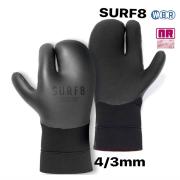 SURF8 4/3mm ロブスターサーモグローブ 89F2R3 LOBSTER GLOVES 遠赤起毛 NANORED/サーフエイト 手袋 防寒サーフ用品