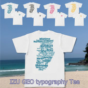 Tシャツ オリジナル メンズ レディース 半袖 伊豆ジオタイポグラフィー Tシャツ IZU GEO typography Tee