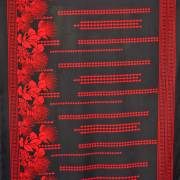 ハワイアン生地 ブラックカパ×レッドレフア カパ タパ パウスカート生地 コットン ポリエステル 3mまでゆうパケット対応 パウスカート生地 カーテン生地 ベットカバー生地 おしゃれ かわいい おススメ