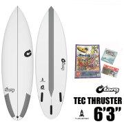 サーフボード ショートボード トルクサーフボード スラスター 6'3 TORQ SURFBOARD TEC THRUSTER EPOXY エポキシ Future 初心者 中級