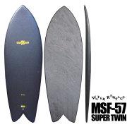 ソフトボード ウォーターランページ スーパーツイン 5'7  MSF-57 SUPER TWIN hard bottom
