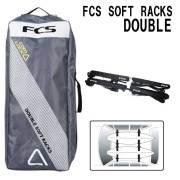 【送料無料キャンペーン】カーキャリア ソフトラック ダブル FCS DOUBLE SOFT RACKS カー用品 サーフボードキャリア サーフィン