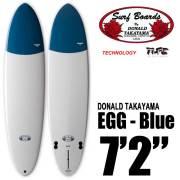 ファンボード SURFTECH HAWAIIAN PRO DESIGNS ドナルドタカヤマ EGG 7'2 ブルー FCS2/サーフテック ハワイアンプロデザイン エッグ