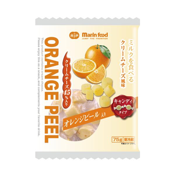 【ミルクを食べるクリームチーズ風味 オレンジピール入り キャンディタイプ】