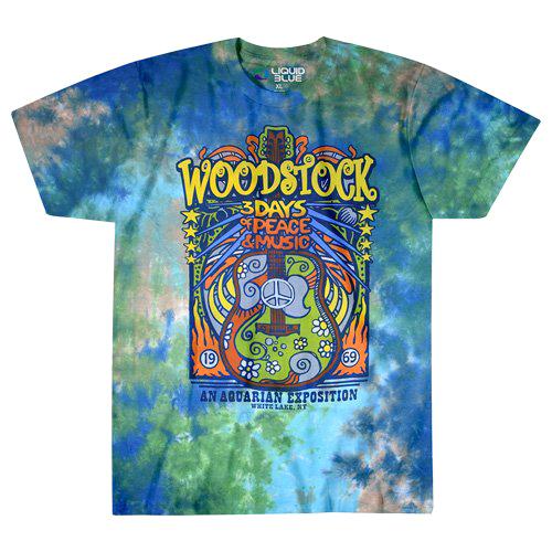 【 Woodstock Music Festival Tie-Dye T-Shirt 】【 S Size 】