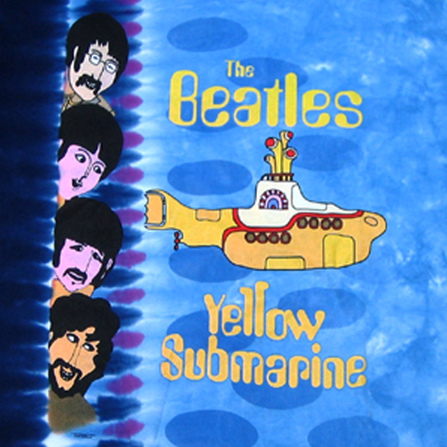 THE BEATLES YELLOW SUBMARINE NOWHERE TIE-DYE T-SHIRTS M