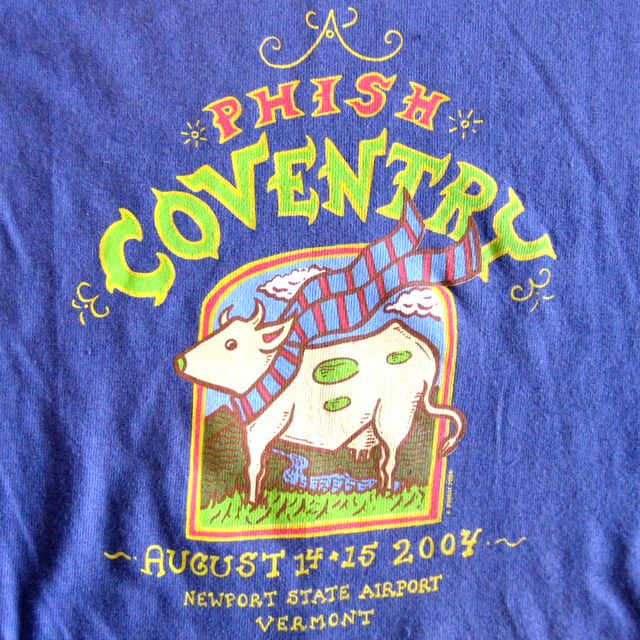 SCARF COW ON TRUE BLUE T