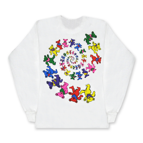 GD SPIRAL BEAR LONG SLEEVE TEE WHITE / スパイラル ベアー Mサイズ