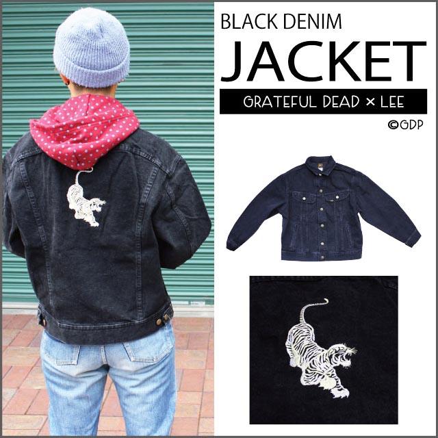 【OUTER】LEE BLACK DENIM TIGER JACKET