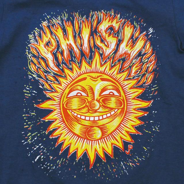 KIDS POLLOCK SUN ON BULE YOUTH T-SHIRTS