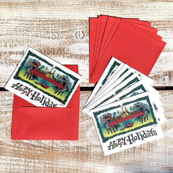 【 POLLOCK HOLIDAY GARDS 8PACK Greeting Card 】