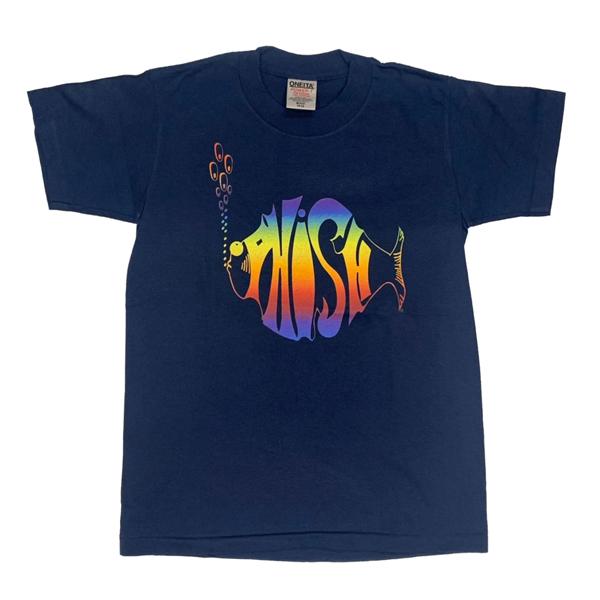【 PHISH LOGO ON BLUE TEE 】ロゴ オン ブルー Tシャツ