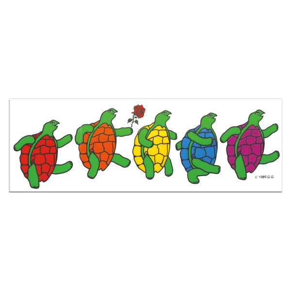 【 ROW OF TERRAPINS Window Sticker 】 窓用 裏貼りタイプ
