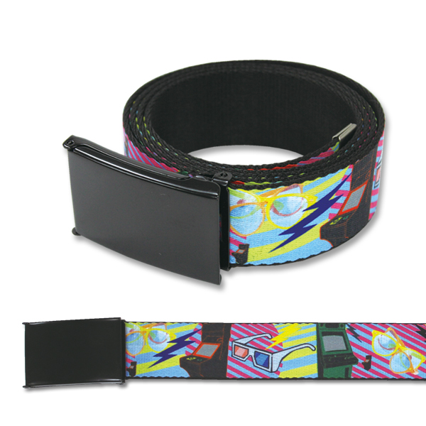 80S ARCADE BLACK WEBBING BELT