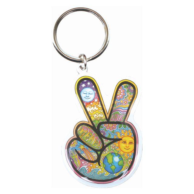 【DAN MORRIS】ダンモリス ピースハンド メタルキーリング PEACE HAND METAL KEY RING