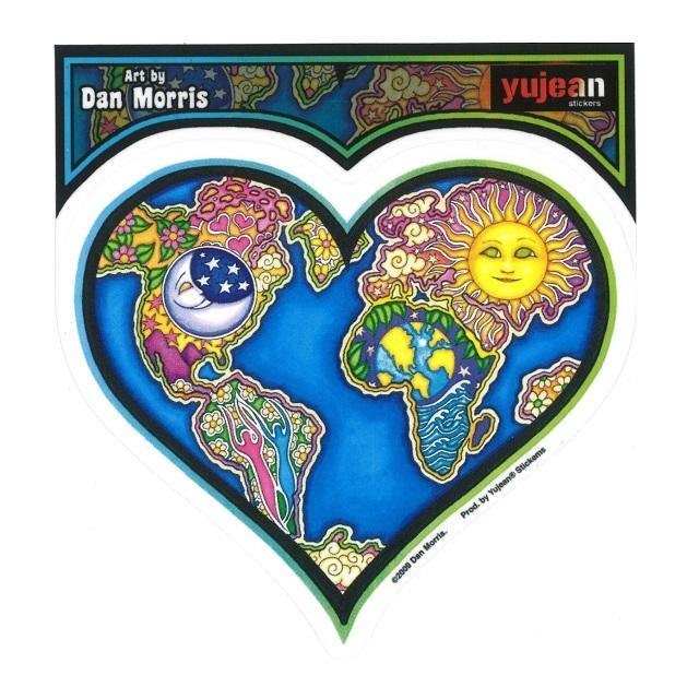 DAN MORRIS EARTH HEART STICKER