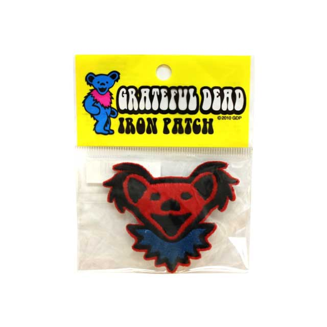 GD BEAR HEAD FURRE PATCH RED ( レッド )
