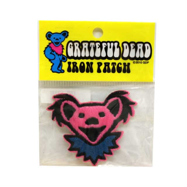 GD BEAR HEAD FURRE PATCH PINK ( ピンク )