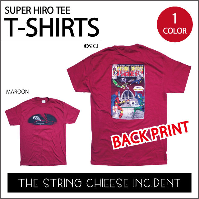 【SCI】SUPER HERO T MAROON スーパーヒーロー マロン