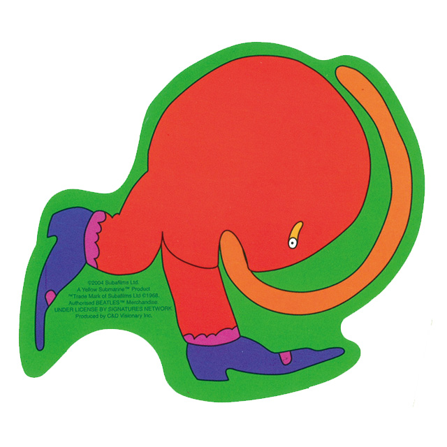 THE BEATLES YELLOW SUBMARINE CURLY STICKER