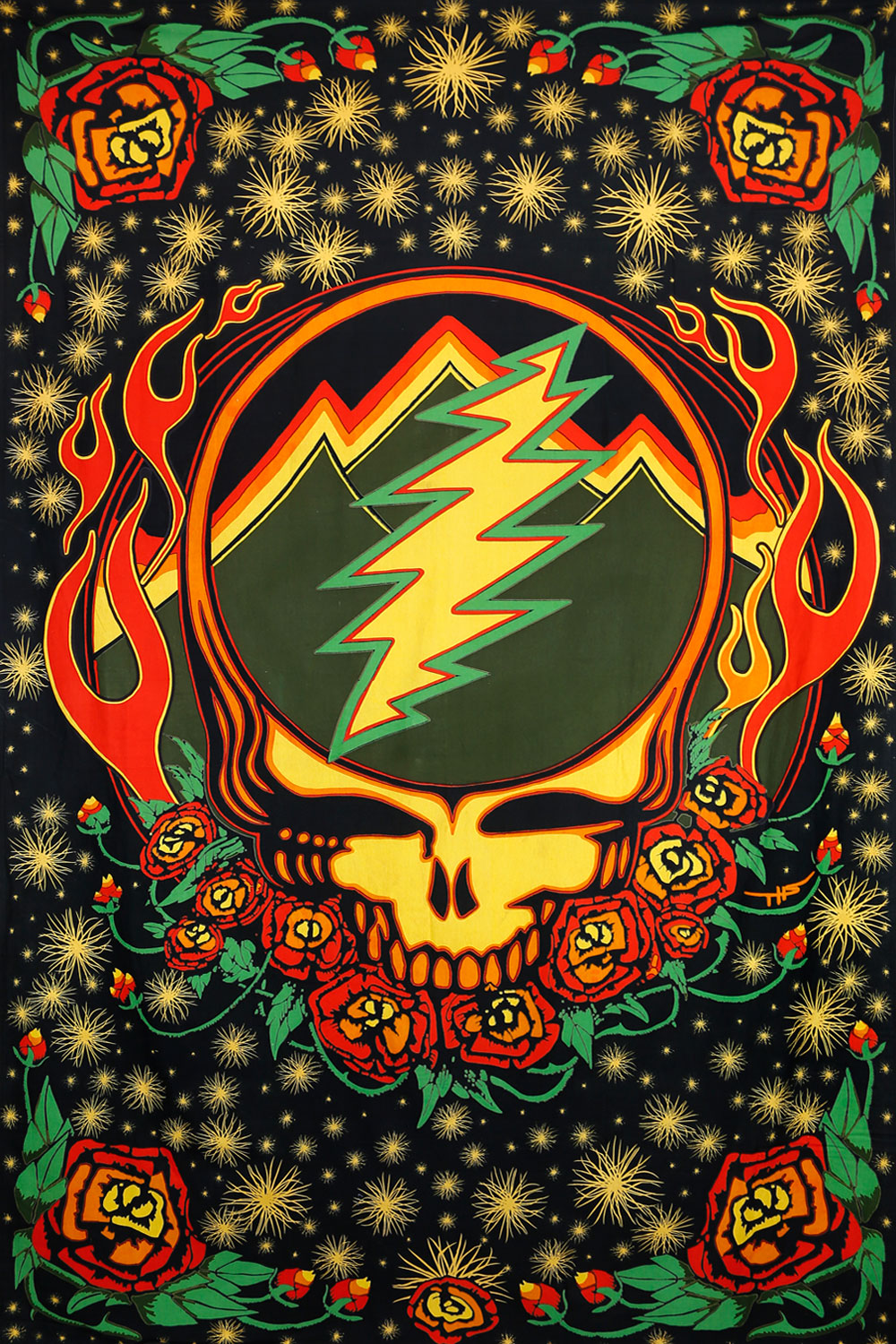 GRATEFUL DEAD SYF SCARLET FIRE TAPESTRY