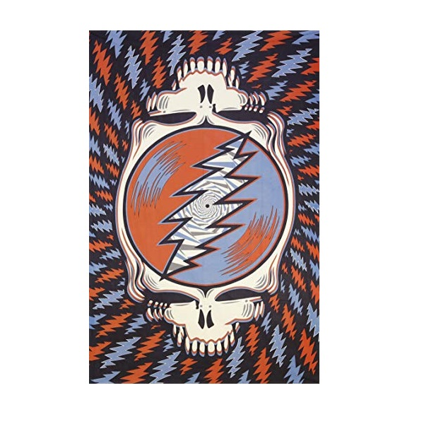 GRATEFUL DEAD SPIN YOUR FACE RWB TAPESTRY