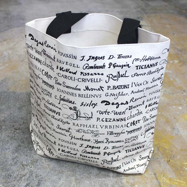 DESIGN WEST ARTISTS SIGNS TOTE BAG