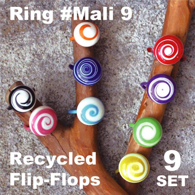 RECYCLED PLASTIC RING MALI 9 / FLIP-FLOPS
