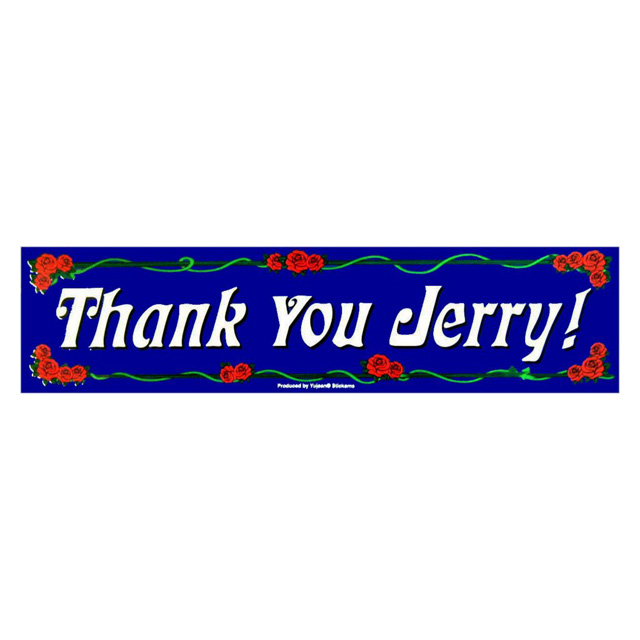 THANK YOU JERRY STICKER