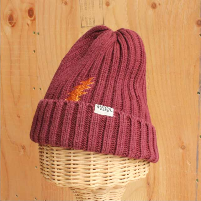 HEMP BOLT KNIT CAP BURGUNDY (バーガンディー)