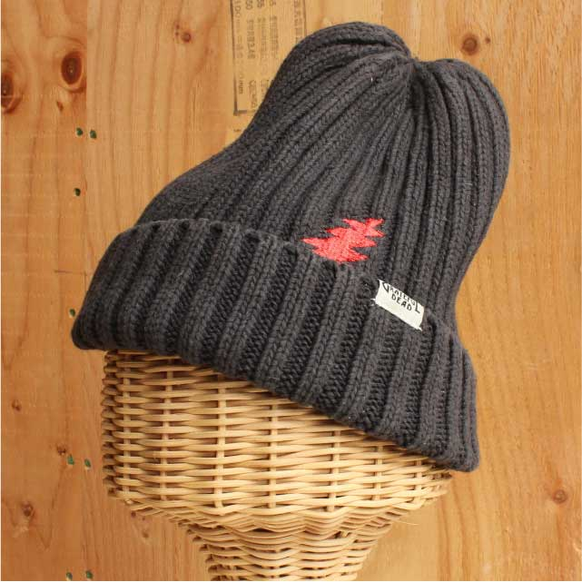 HEMP BOLT KNIT CAP CHARCOAL (チャコール)