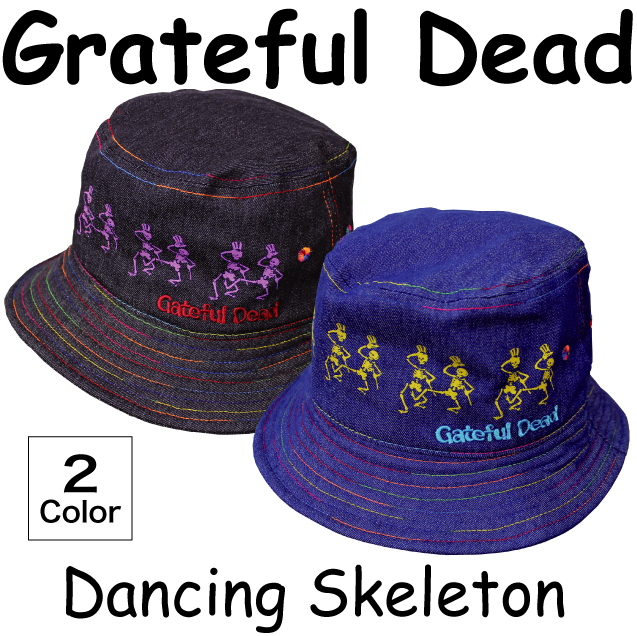 GD DANCING SKELETON BUCKET HAT BK/BL