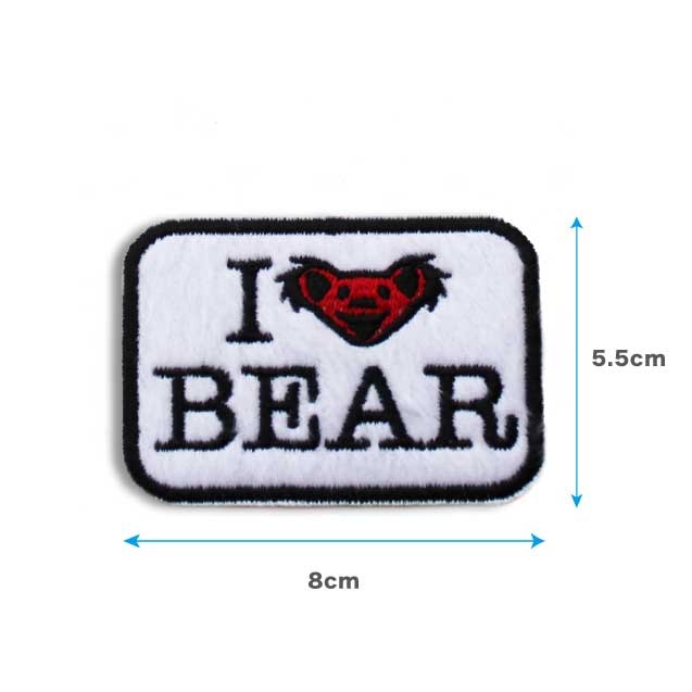 GD I LOVE BEAR HEAD FURRE PATCH