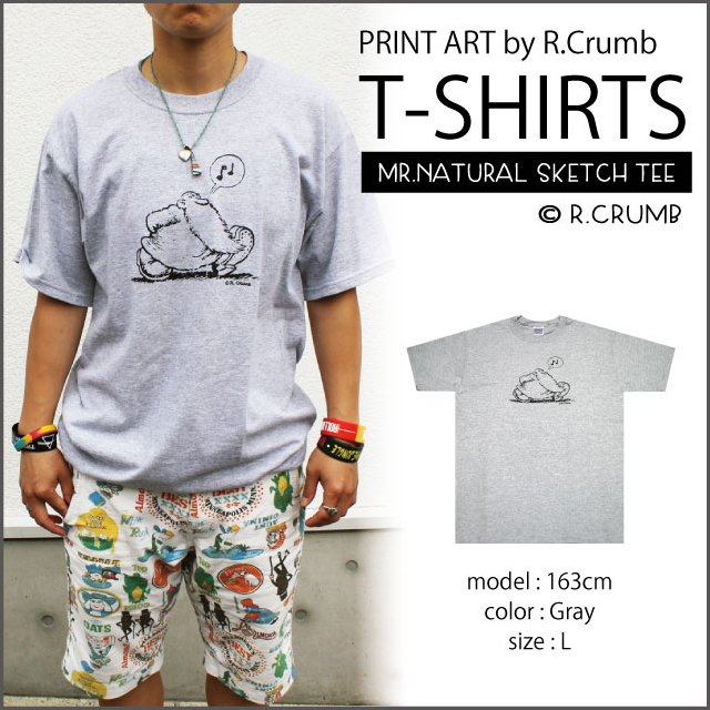 【R.Crumb】MR.NATURAL SKETCH T GY
