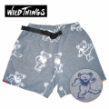 DANCING BEAR X WILD THINGS CHAMBRAY SHORTS